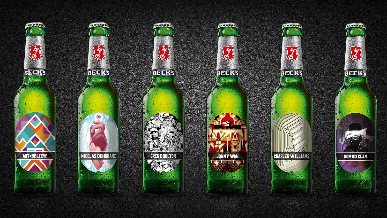 Artists Make Their Mark On Beck's With New Beer Label Designs photo