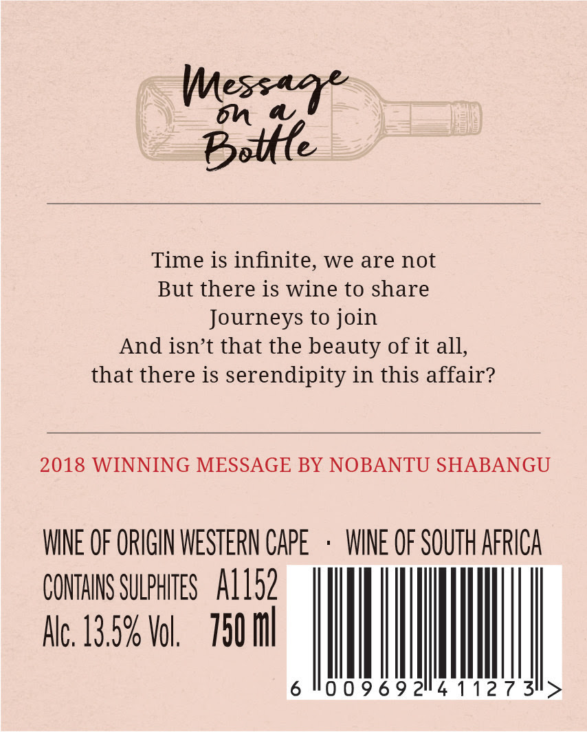 Leopard's Leap and Open Book announce winner of Message on a Bottle Competition photo