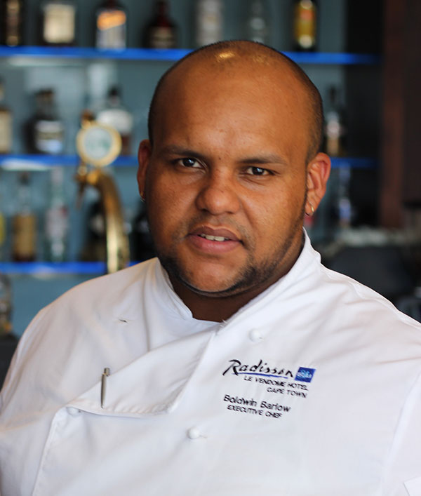 Boldwin Barlow  Has Been Appointed Executive Chef At Radisson Blu Le Vendome Hotel, Cape Town photo