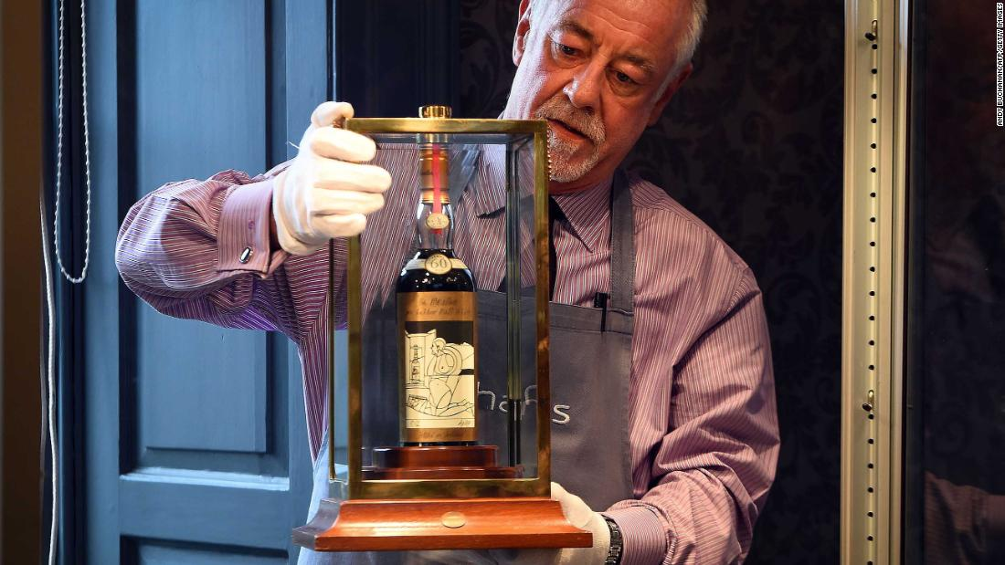 Bottle Of Whisky Sold For Record $1.1 Million photo