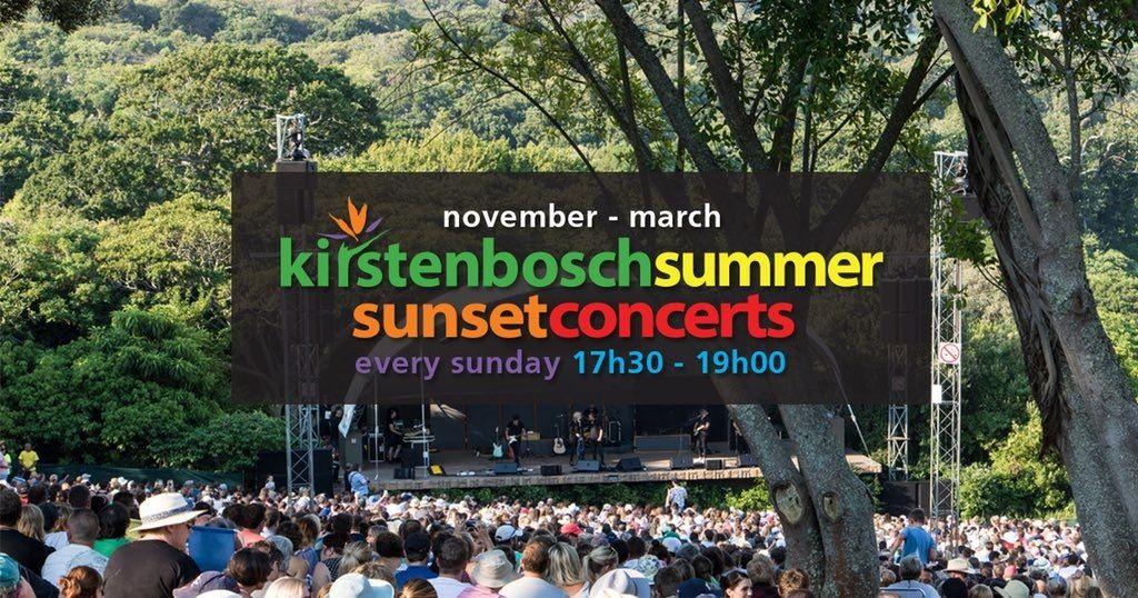 2018/19 Kirstenbosch Summer Sunset Concerts Line-up Announced photo