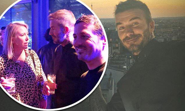 David Beckham Parties In Paris With David Gardner And Female Pal photo