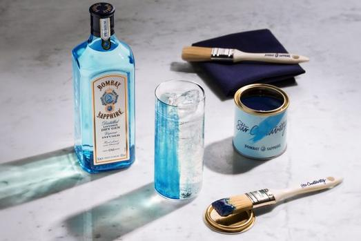Bombay Sapphire Introduces A Gin Paint That Enhances The Flavour Of Your Drink photo