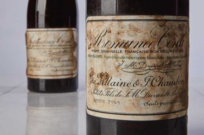 Drc 1945 Sets Record For Wine Auction Price photo