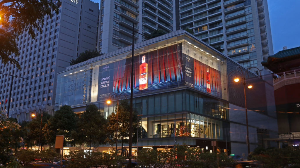Singapore?s Largest Sequential Led Billboard Created For Martell Cognac photo