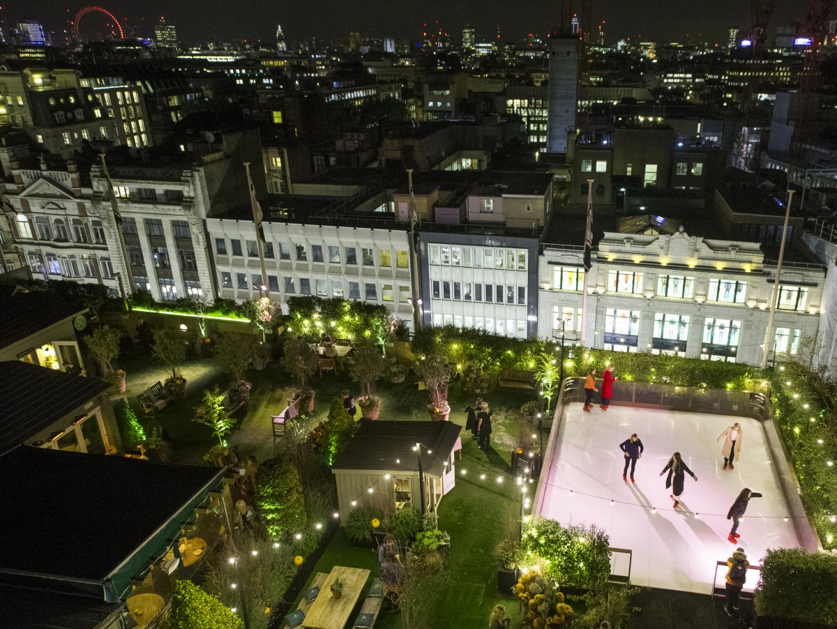First Look: John Lewis Skyline Skating And Rooftop Gin Bar photo