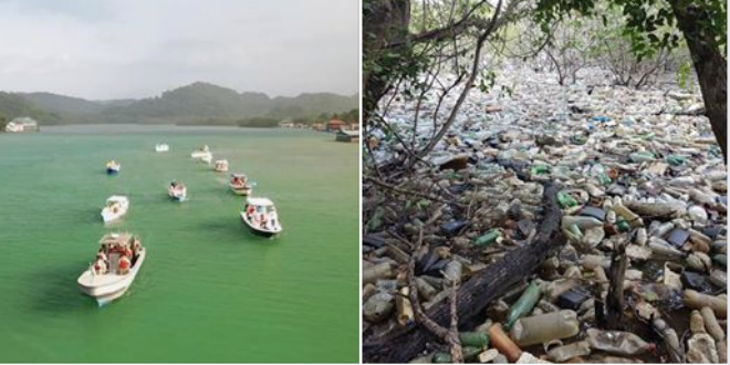 Sodastream Cleans Up Floating Trash Off Honduras Coast photo
