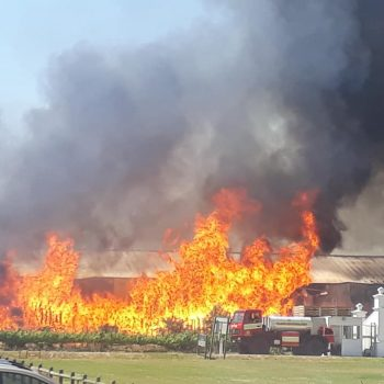 Winery Building Gutted In Fire At Stellenbosch Vineyards photo