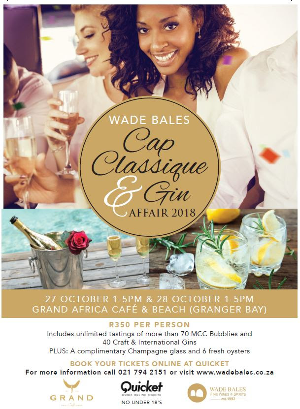 Wade Bales Cap Classique and Gin Affair Returns to Cape Town photo