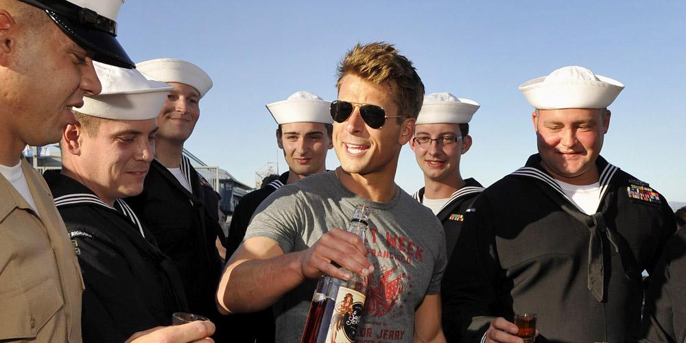 Glen Powell Toasts Troops During Fleet Week In San Francisco! photo