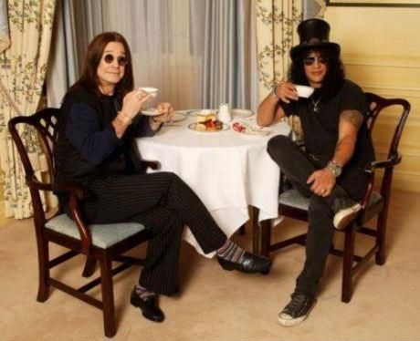 Metal bands with coffee brands photo