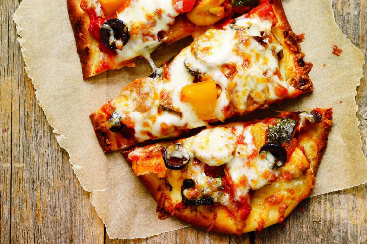 Ratatouille And Sausage Pizza photo