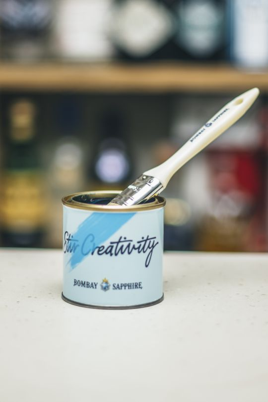 Bombay Sapphire Launch Flavoured Edible Paint To Change The Colour Of Your Gin and Tonic photo