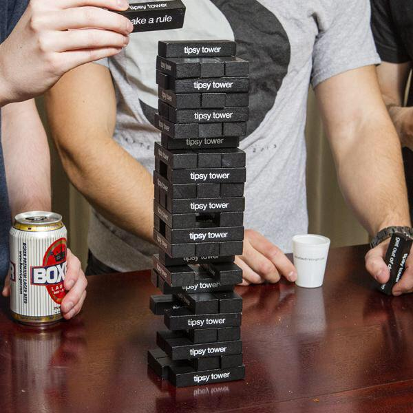 tipsy jenga drinking game 1098 Four Modern Takes On Drinking Games