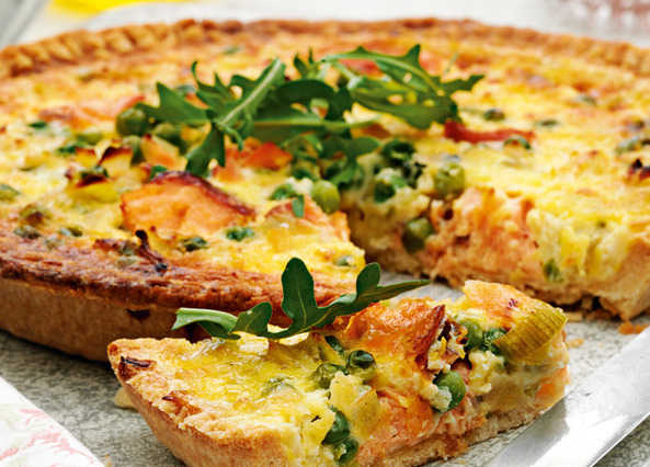 Picnic Perfect Trout Quiche with Chenin Blanc photo