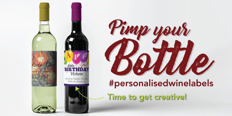 Create your own wine label this festive season photo