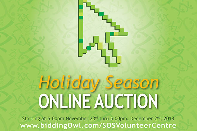 Volunteer Centre Hosting Holiday Season Auction This Weekend photo
