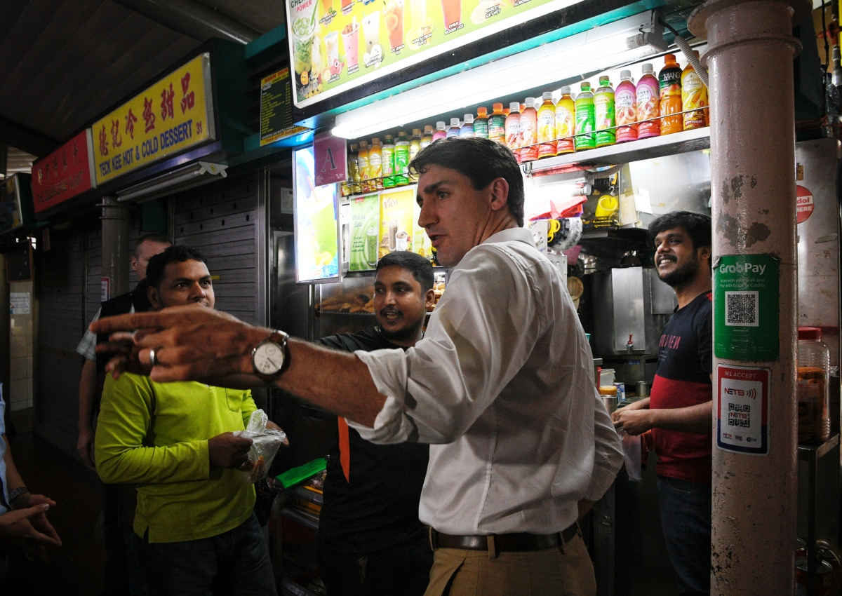 Canadian Prime Minister Justin Trudeau Drops By Adam Road Food Centre For Lime Juice, Food photo