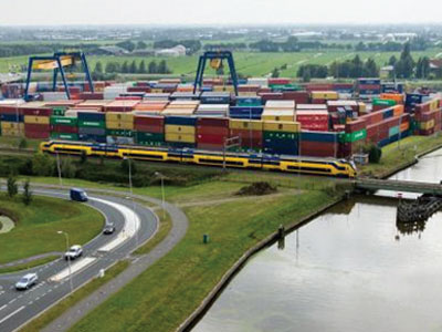 Port Of Rotterdam Accesses Inland Terminal To Move Heineken And Other Containers By Water photo