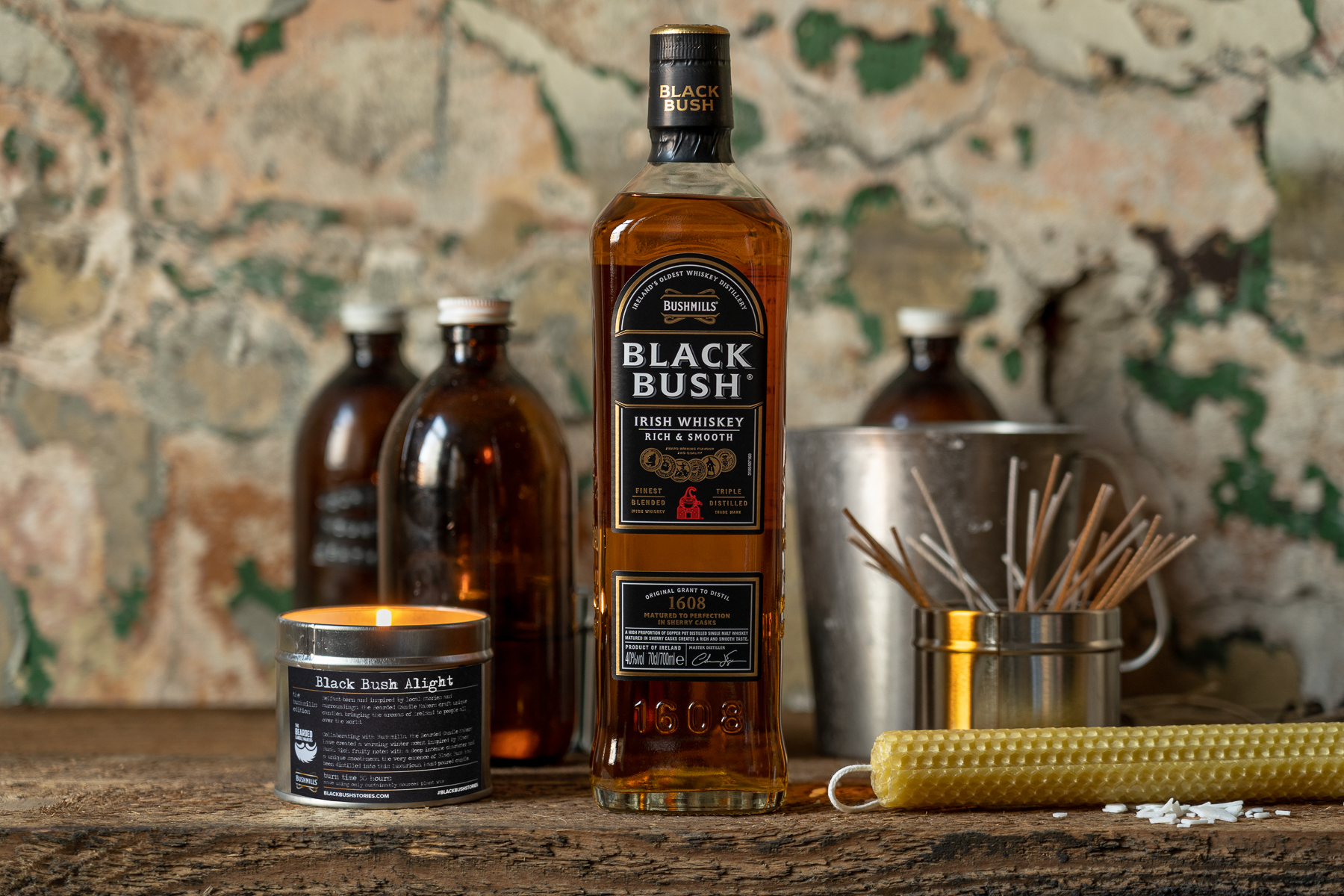 Bushmillsirish Whiskey Collaborates With The Bearded Candle Makersto Hostfestive Event Series photo