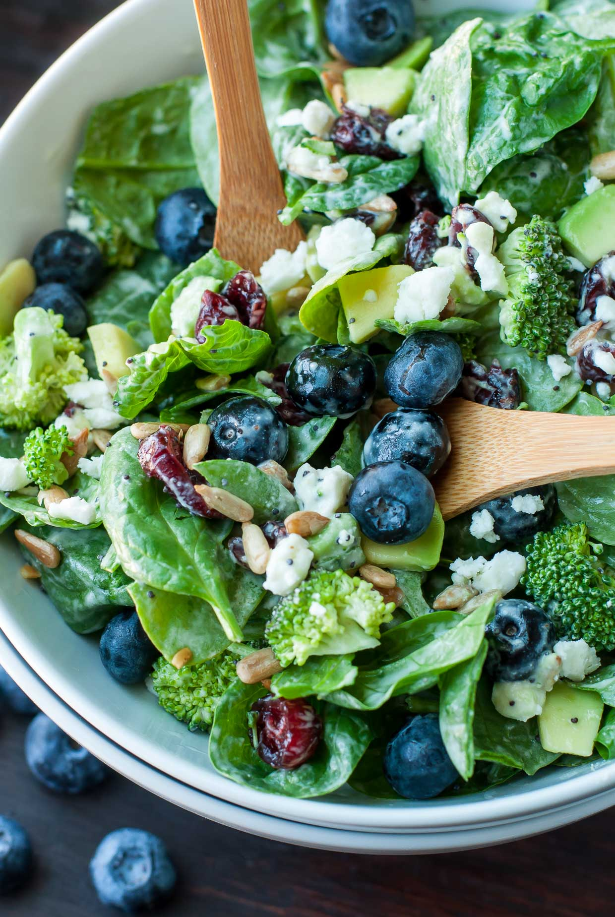 Blueberry Broccoli Spinach Salad Poppyseed Ranch dressing recipe 7143 5 Summer Salads with the beachhouse wines that will blow your guests away