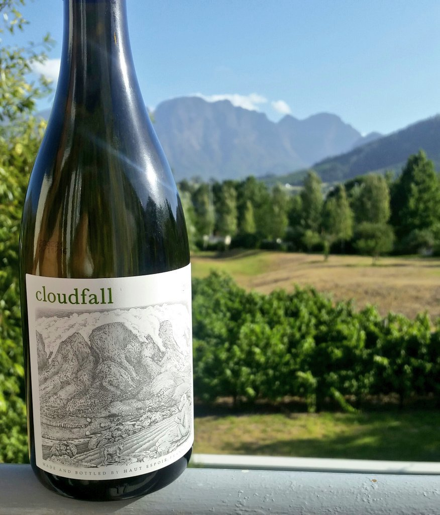 With Summer heating up, enjoy a glass of Cloudfall 2016 in the Sunny Tasting Garden at Haut Espoir photo