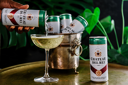 You can now drink bubbly from a can, thanks to Chateau Del Rei photo