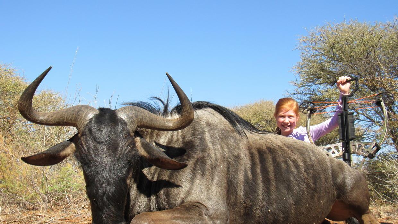Fargo Girl Bags 600-pound Wildebeest During Her First Hunt photo