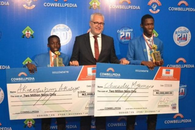 Cowbellpedia 2018 Mathematics Champions Ends With Winners From Ogun, Rivers States photo