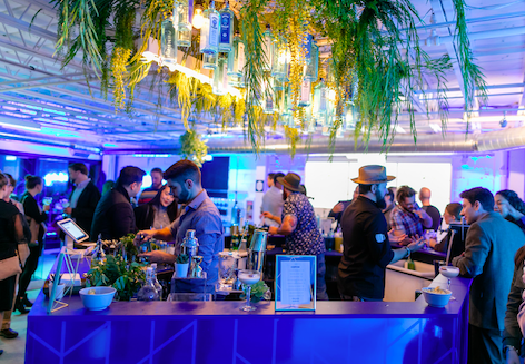 Canvas Bar By Bombay Sapphire Gin photo