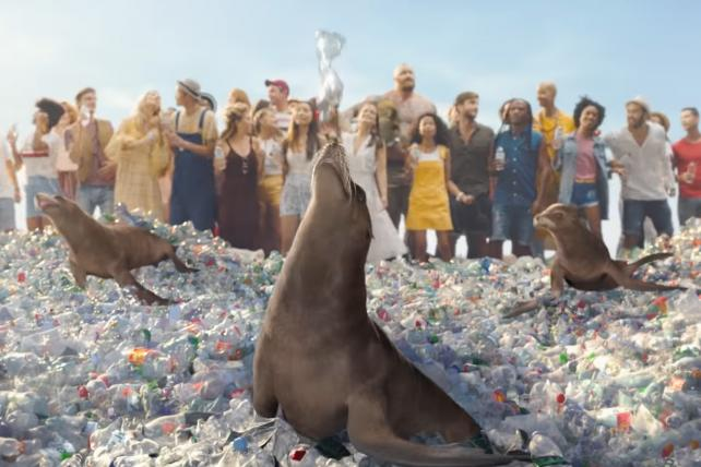 Sodastream, Soon To Be Owned By Pepsico, Mocks Classic Coke Ad photo