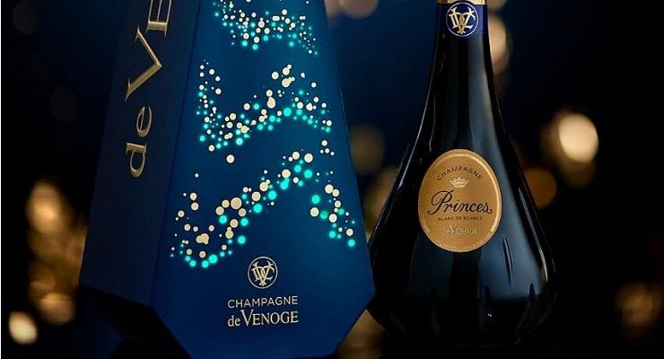 Champagne De Venoge?s Tabletop Christmas Tree photo