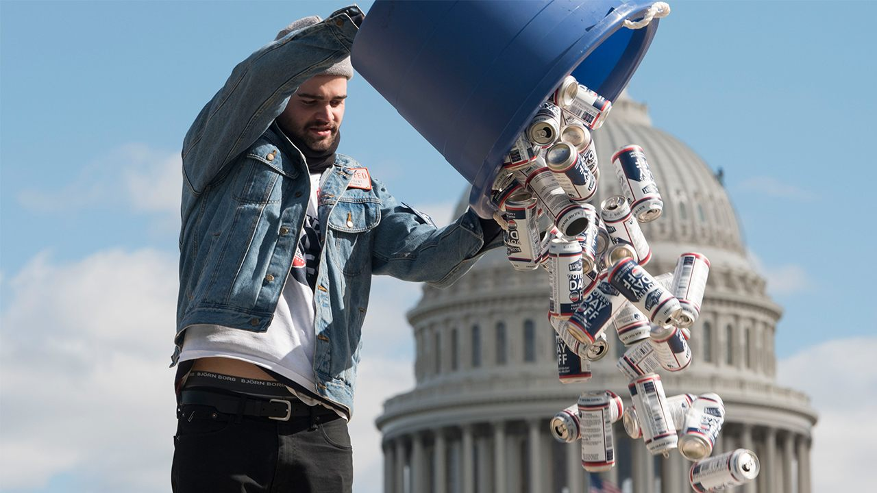 New York Brewery Petitions Congress To Make Election Day Federal Holiday By Sending Empty Beer Cans To Capitol photo