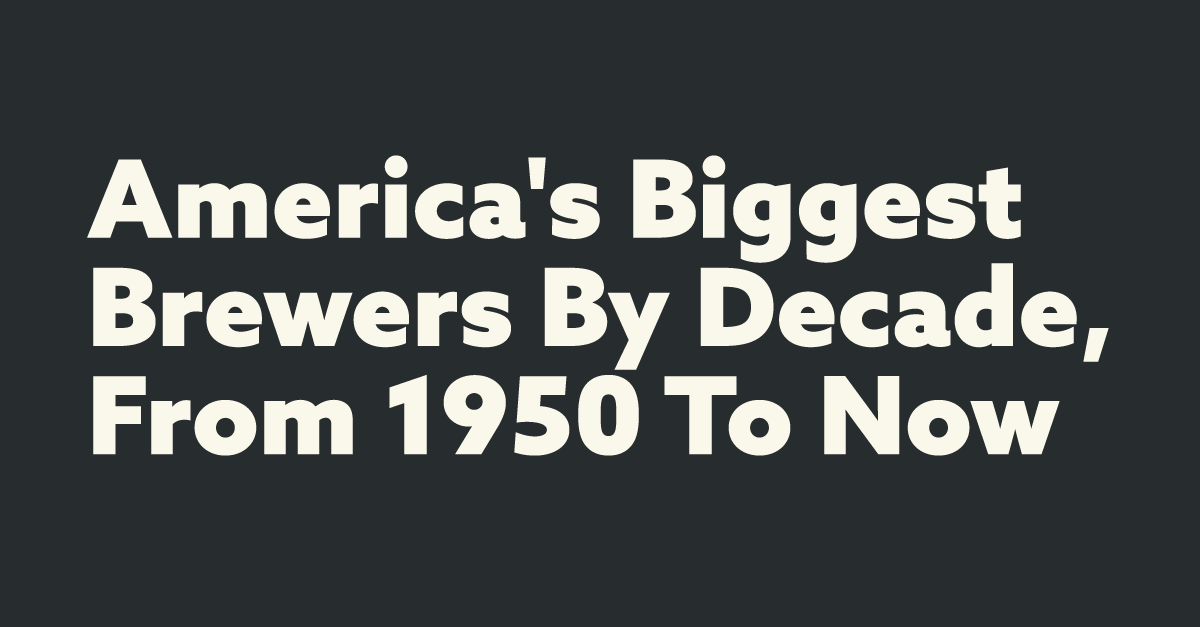 Charted: America's Biggest Brewers By Decade, From 1950 To Now photo