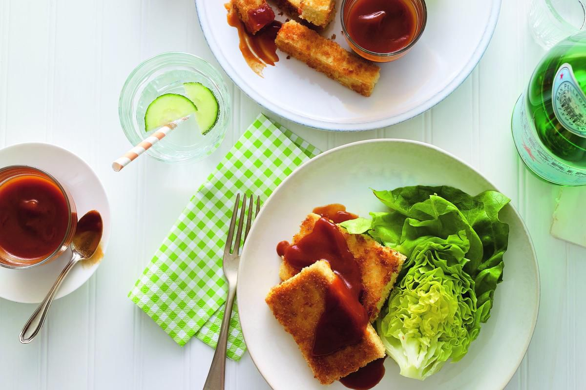 Crispy Tofu With Barbecue Sauce Is A Healthy Option For Meatless Mondays photo