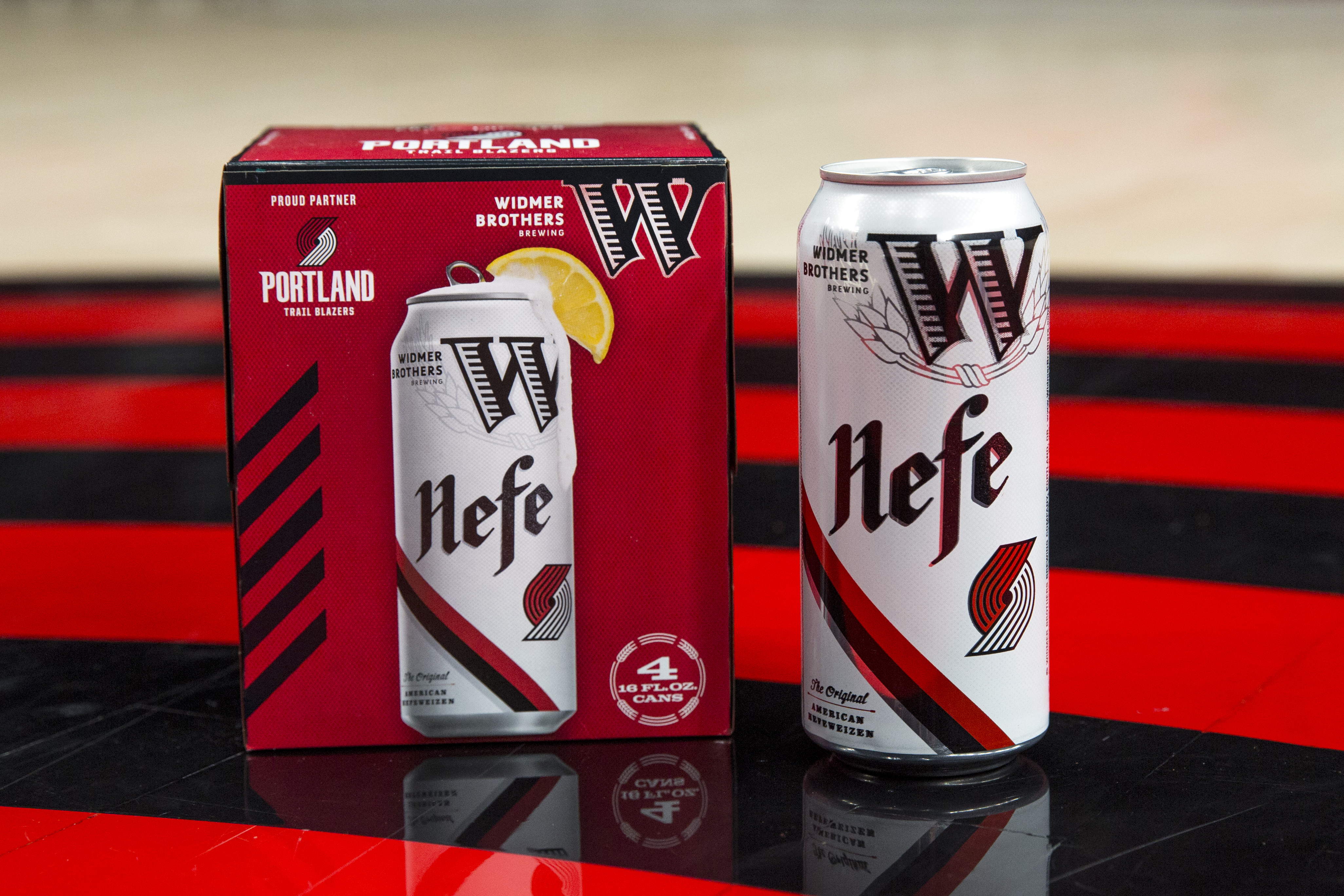 Widmer Brothers And Portland Trail Blazers Release Co-branded Hefe Cans photo