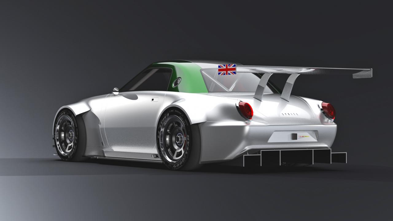 This Is An Austin Healey Sprite Gt3 Car photo