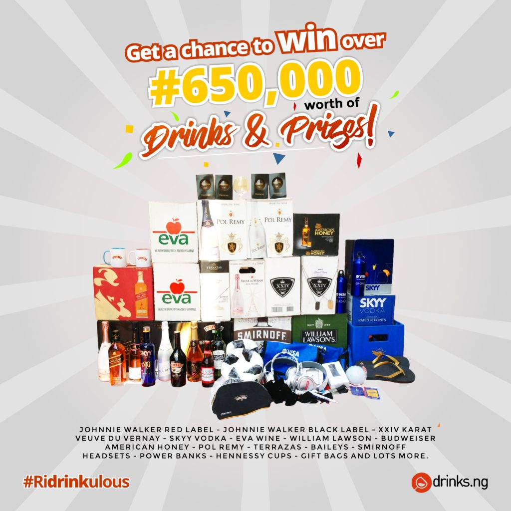 Win Big In The Drinks.ng #ridrinkulous End Of Year Giveaway photo
