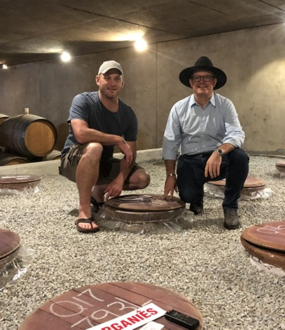 Tim James: Tasting Out Of Barrel, Terracotta Pot And Qvevri At Avondale photo