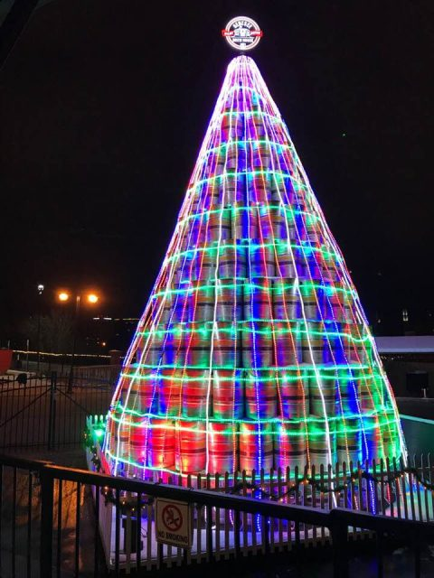 Brewery Builds A Giant Christmas Tree Out Of Beer Kegs photo