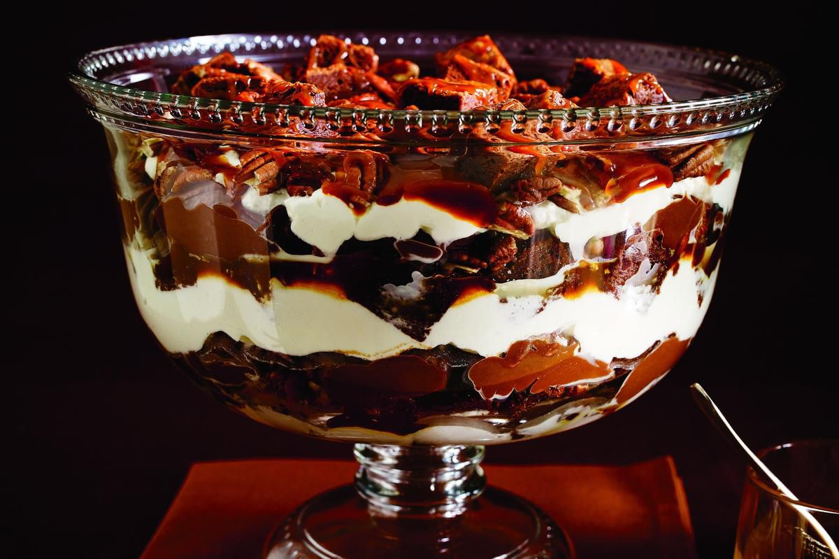 Go Decadent With A Brownie And Bourbon Caramel Trifle photo