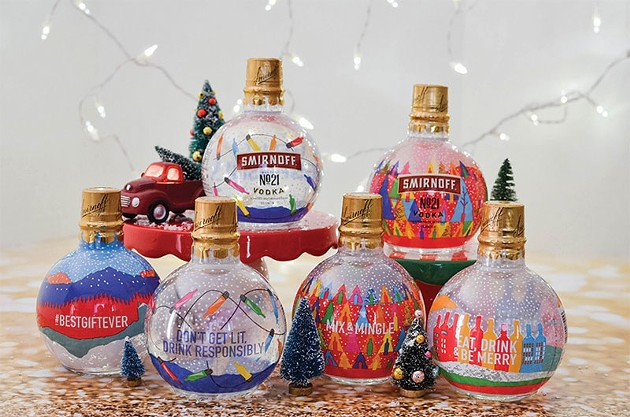 Smirnoff Vodka-filled Ornaments And Peppermint Twist Vodka photo