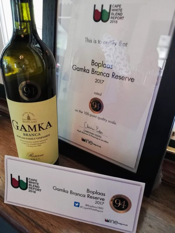 Boplaas White Blend Triumphs With Best Score In Wine Magazine Annual White Wine Report photo