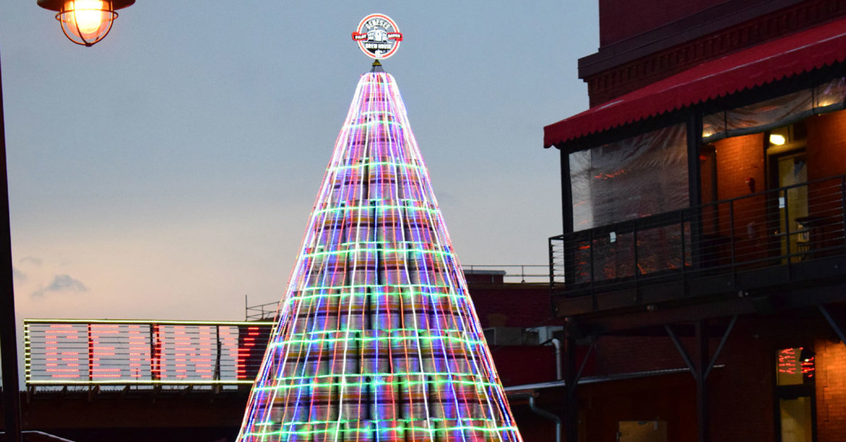 Genesee Brewery Unveils Three-story-tall Keg Christmas Tree photo