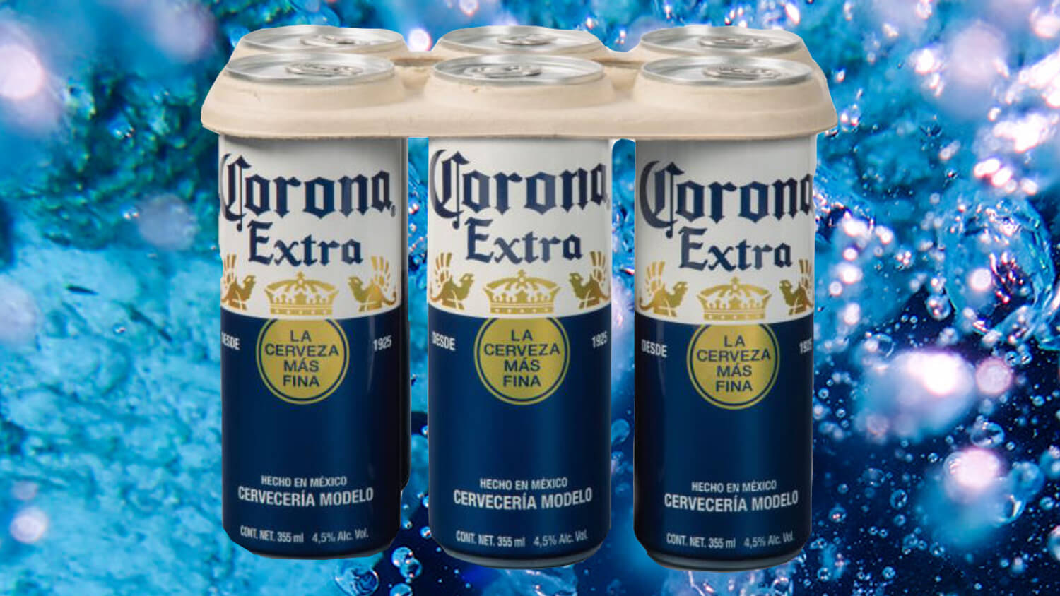 Corona Beer Trialing Plant-based Biodegradable Plastic-free Six-pack Rings photo