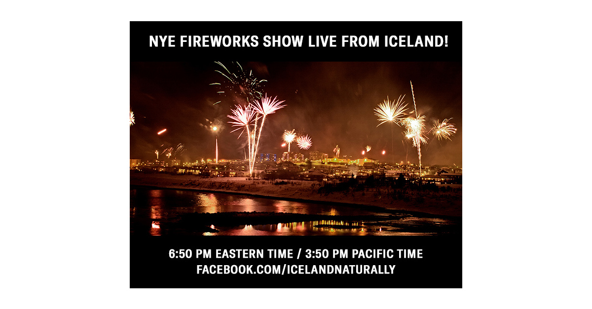 Ring In The New Year By Watching Iceland?s Famous Fireworks Display Live On Facebook! photo