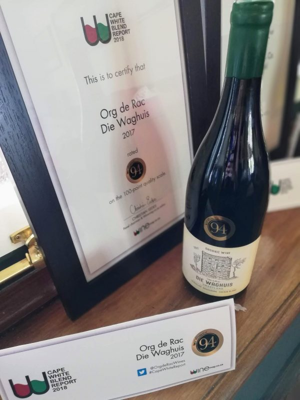 Die Waghuis from Swartland's Org de Rac Takes Top Spot at Winemag Report photo