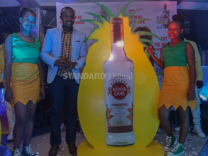 Kbl Launches New Kenya Cane Pineapple Spirit : The Standard photo