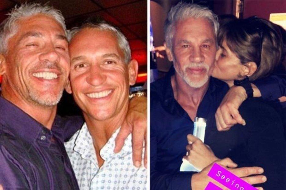 Gary Lineker's Bro Wayne Gets A Kiss From Daniella Westbrook As She Clutches Vodka Bottle photo