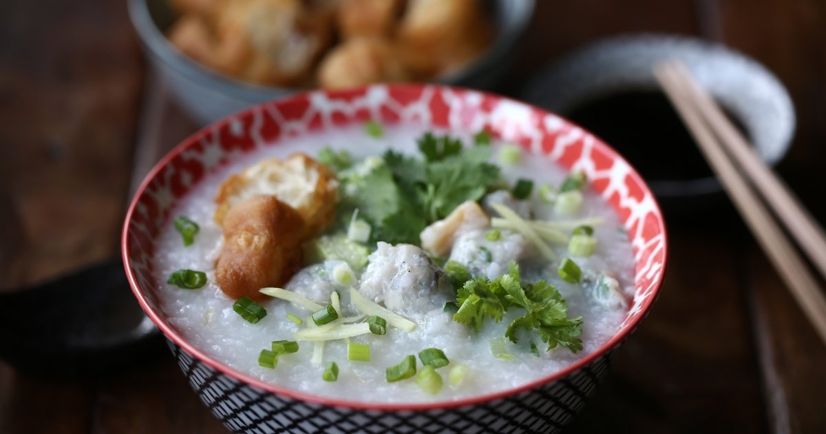 How To Cook With Fish Paste – Poached In Congee Or Stuffed Into Vegetables photo